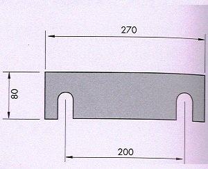 Tope manual para plegadora RPS-500