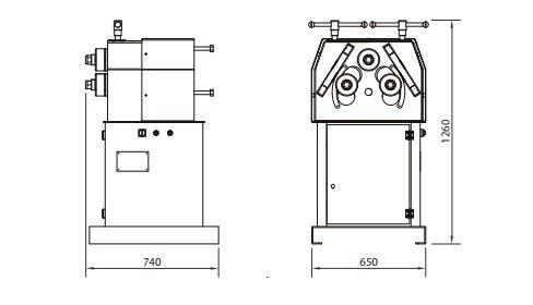 Curvadora de perfiles y tubos MC 400