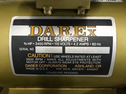 Afiladora Brocas Darex M-5