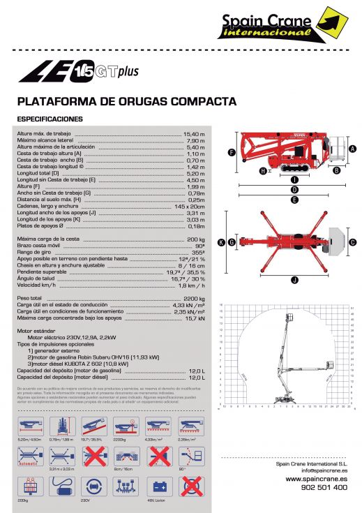 Plataforma Leo 15 GT Plus