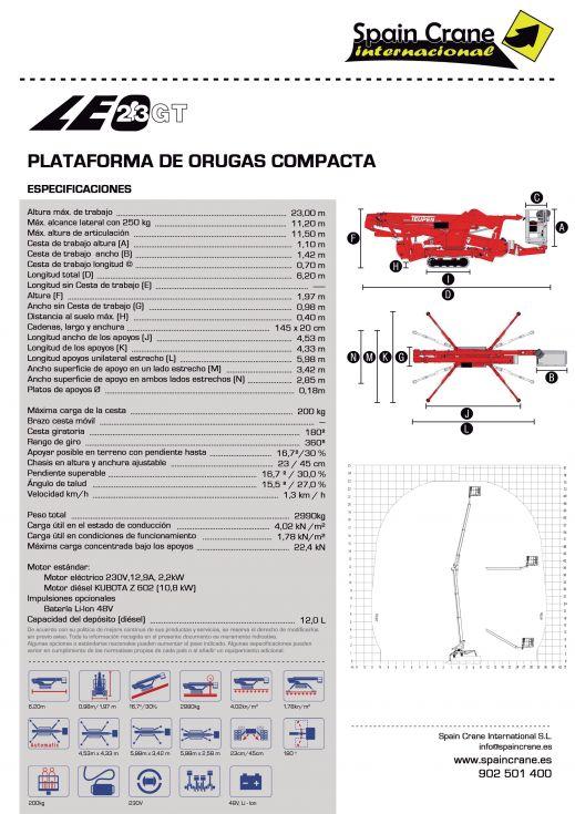 Plataforma leo 23 GT