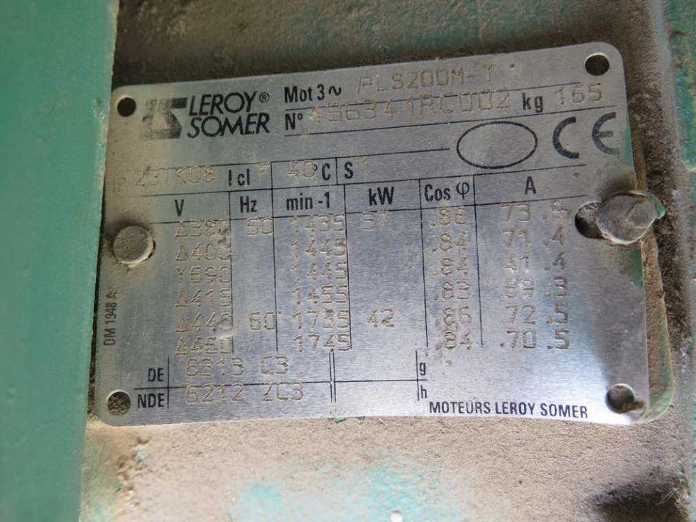 GT-2149 Motor de 37kw de corriente alterna, marca LEROY SOMER , 1435 vueltas.