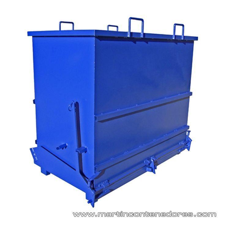 Contenedor apertura inferior 1300 litros