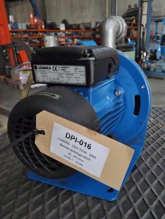 Bomba centrifuga de acero inoxidable