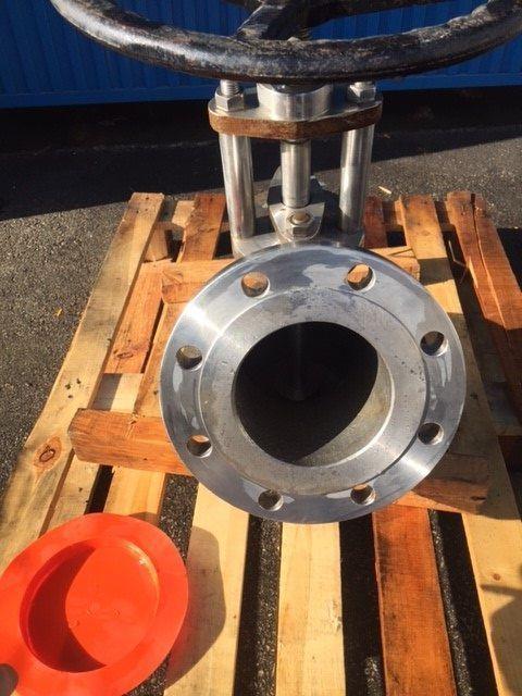 Valvula de fondo inox dn150 pn16 de segunda mano