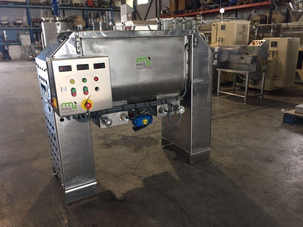 Mezcladora de bandas horizontal con doble cuerpo con resistencias eléctricas 250 litros