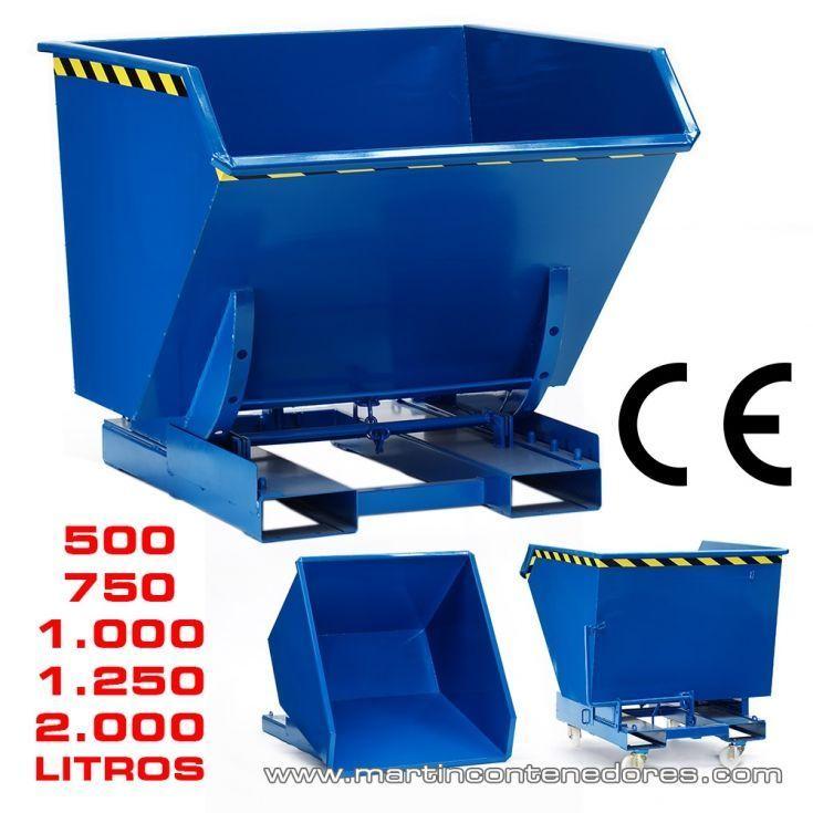 Contenedor basculante 1250 litros
