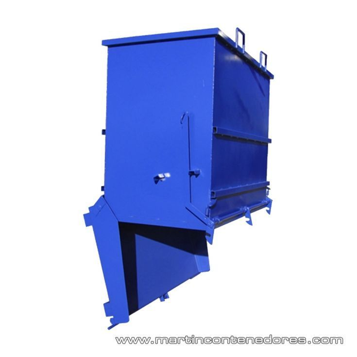 Contenedor apertura inferior 1100 litros