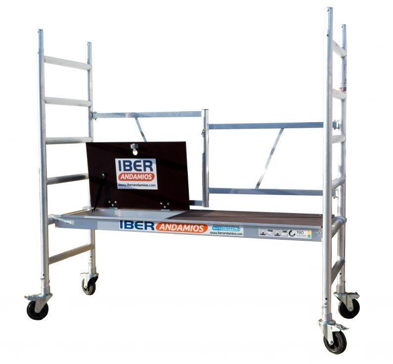 Andamio plegable en aluminio D75-6 CT ASC altura de trabajo 3,85 mts