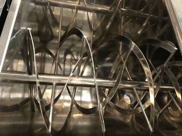Mezcladora de bandas en acero inoxidable 316 de 2.000 litros ATEX MMG NUEVA