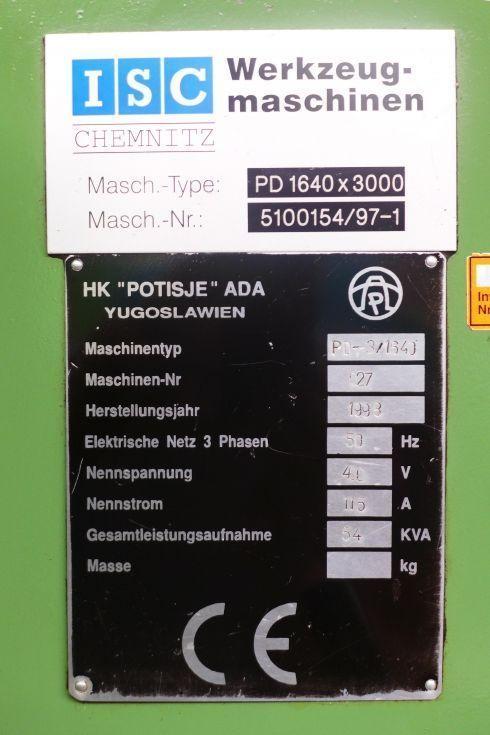 Potisje CNC lathe 1600 x 3000 mm 1384 = Mach4metal