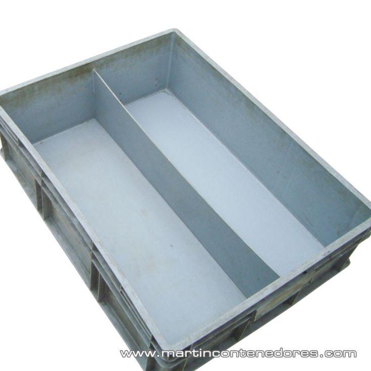 Caja plástica con separador