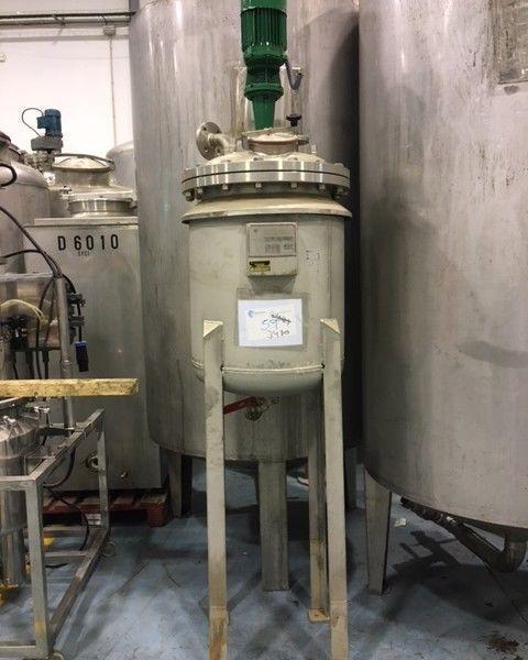 Reactor 70 l inox con agitacion de segunda mano