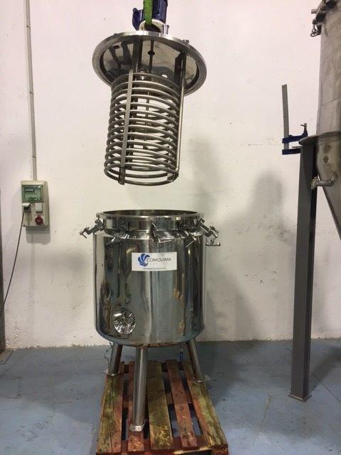 Reactor 400 litros en acero inox 316