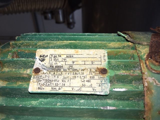 Reactor 2500 l inox 304 con media caña y agitacion de segunda mano