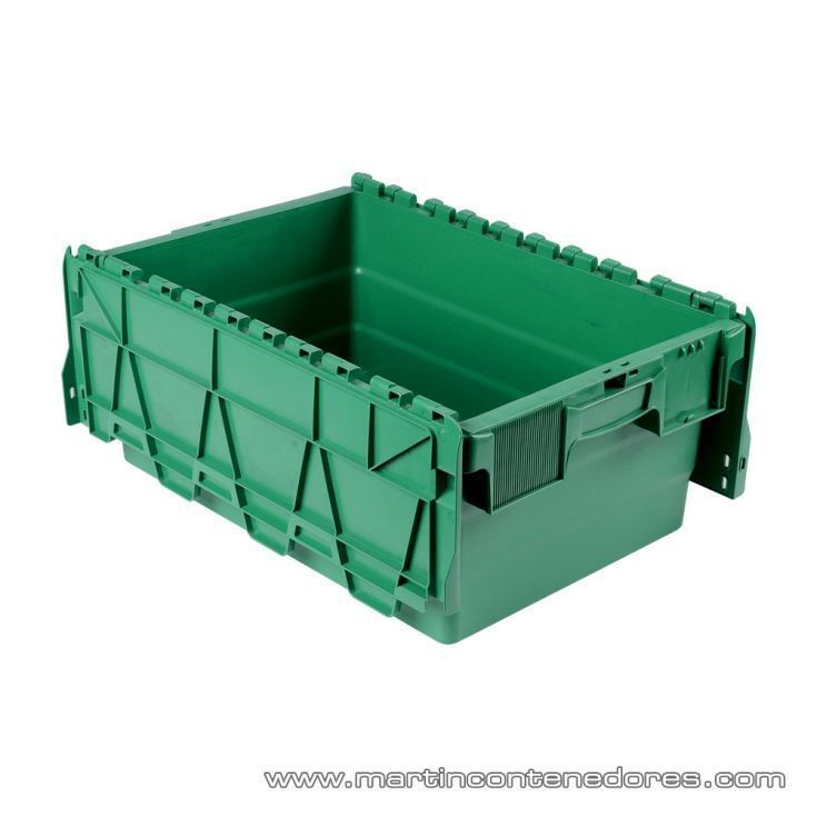 Caja de plastico encajable