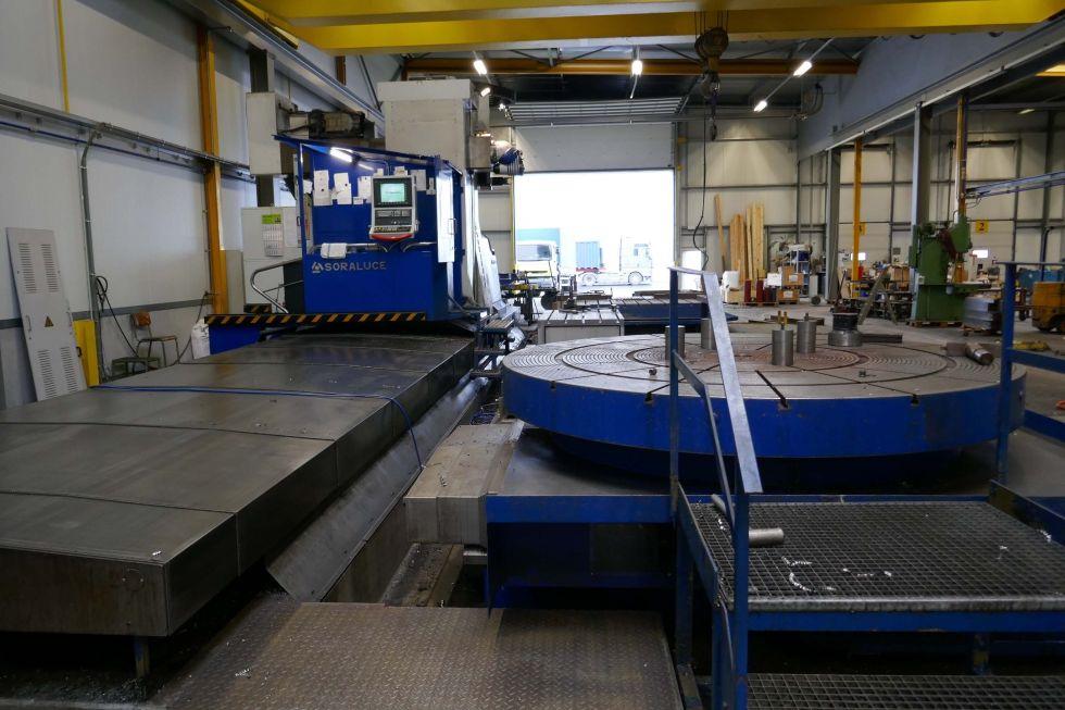 Soraluce FS 10000 X/Y/Z 10.000 x 2.000 x 1.500 with Turn table Ø 6000 mm 3685 Mach4metal