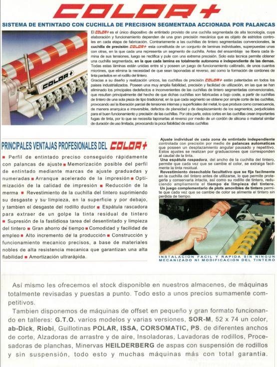 Sistema de entintado con cuchilla de precisión segmentada accionada por palancas