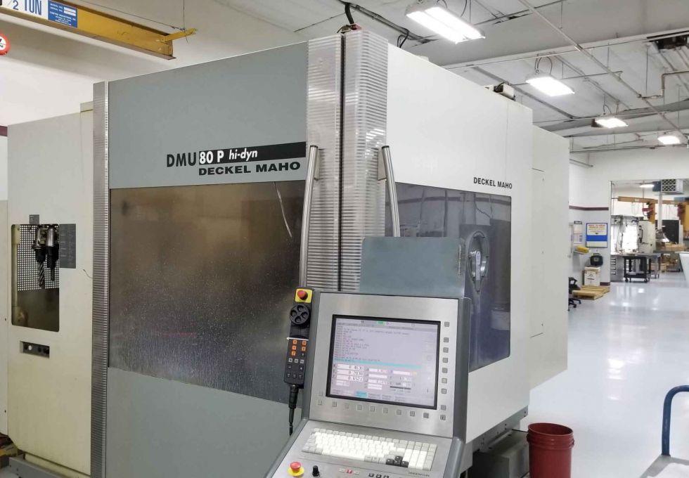 DMG DMU 80P Hi Dyn 5 Axis 800 x 700 x 600 mm= 3709 Mach4metal