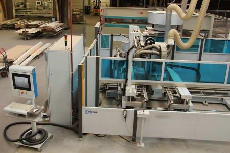 Centro CNC de mecanizado-mandrinado-prensado para frentes especiales WEEKE Profiline ABS 110