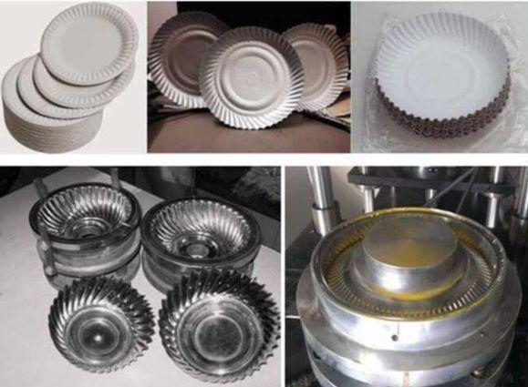 Máquina automática para fabricar platos y bandejas de cartón