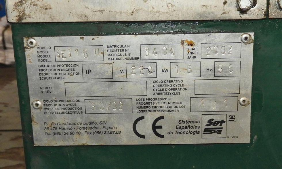 Lavadora disolvente