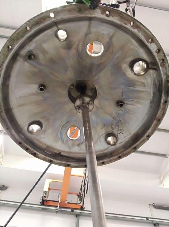 Reactor 1000 litros acero inoxidable 316 de segunda mano