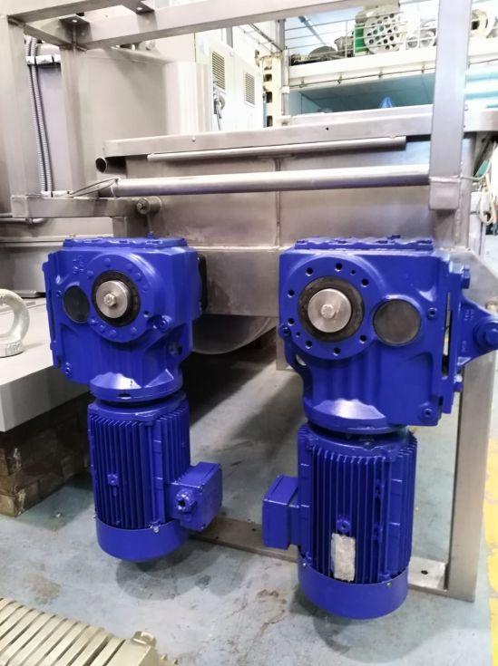 Mezcladora de bandas de doble eje pavan grim 2000 en acero inoxidable 316