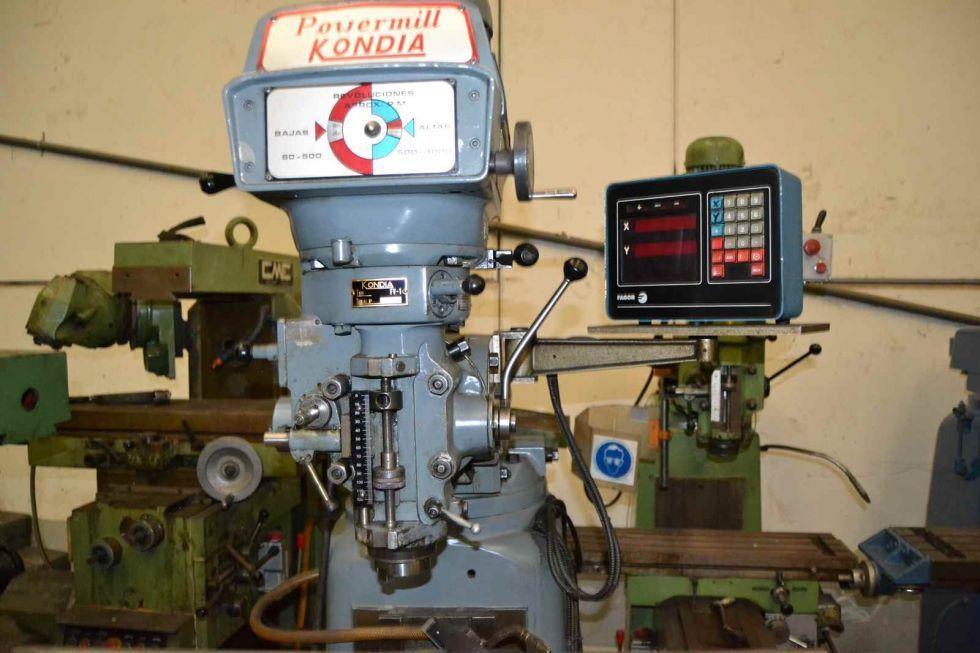 Fresadora torreta Kondia Powermill FV1