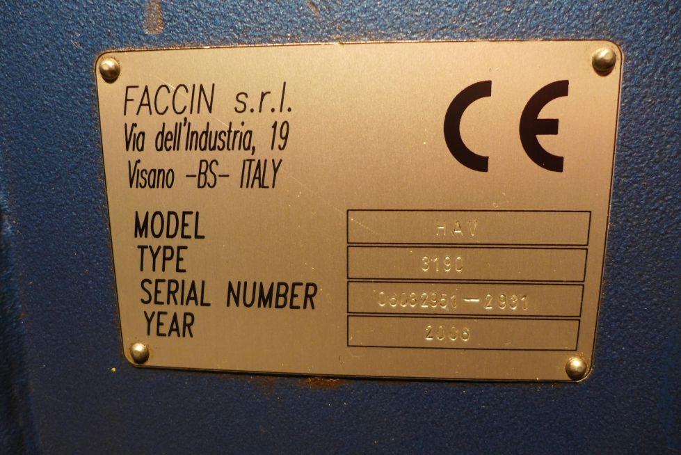 Faccin plate bender 3050 x 140 mm 3 roller 3277 = Mach4metal