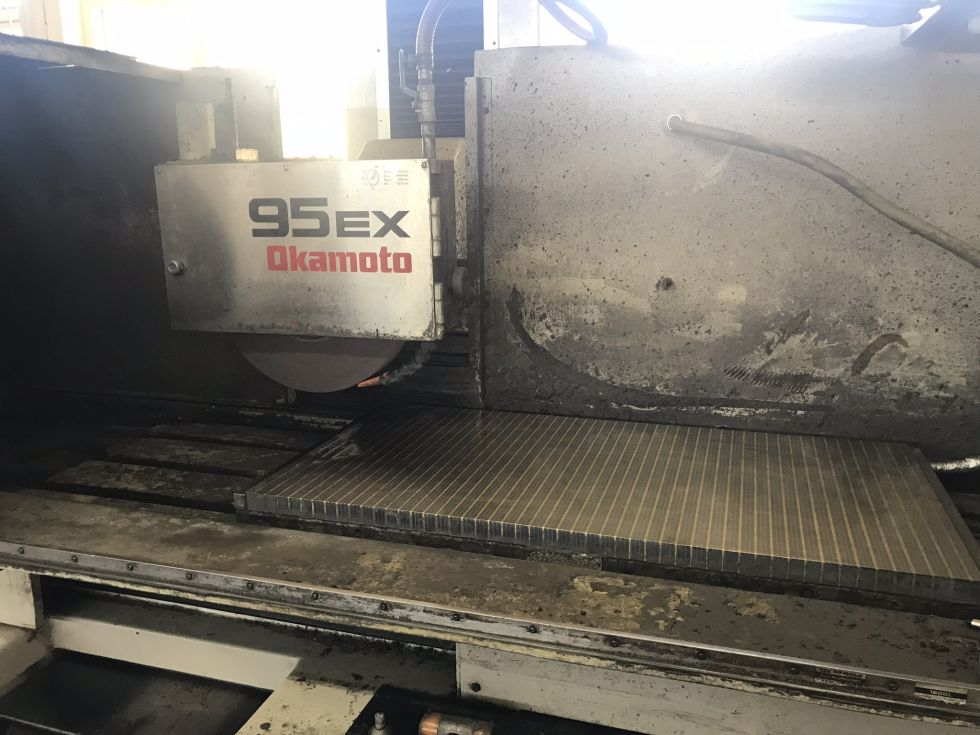 Okamoto Surface Grinder 950 x 440 x 500 mm with FANUC 4104 = Mach4metal