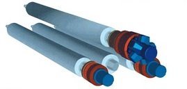 Cilindro hidráulico de 4 rodillos 4RHSS 30-550 con doble precurvado