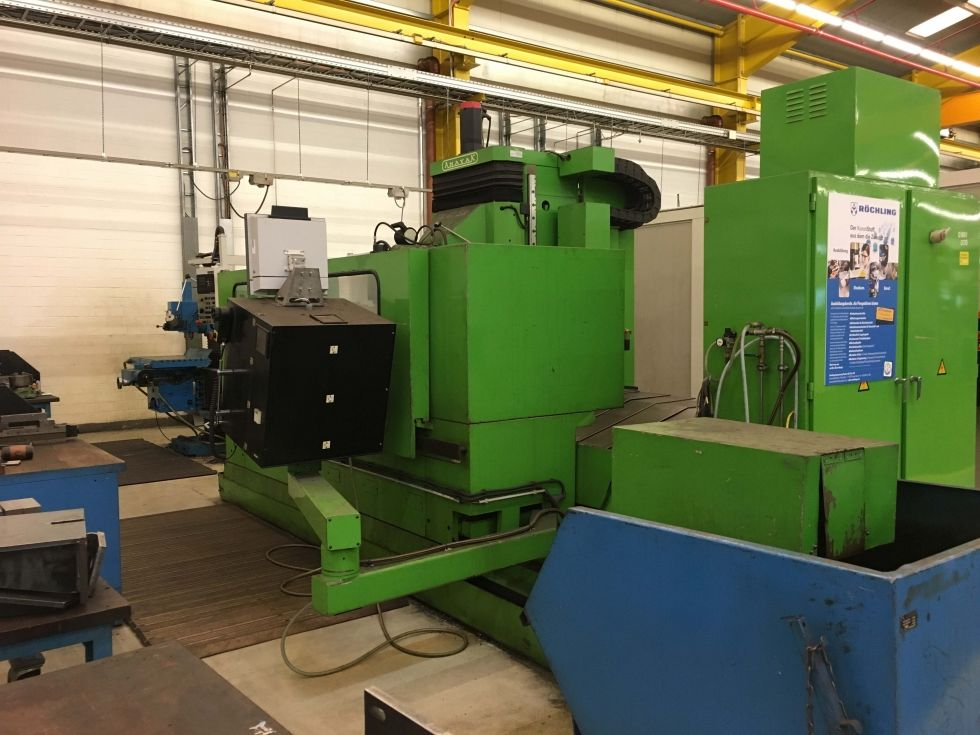 Anayak FBZ-HV Bed miling machine 2500 x 815 x 800 mm 4108 = Mach4metal