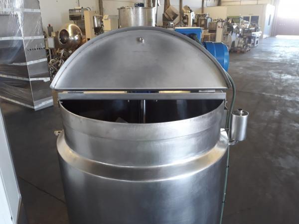 Fusora cuece cremas en acero inoxidable con agitador y cuadro eléctrico 250 litros