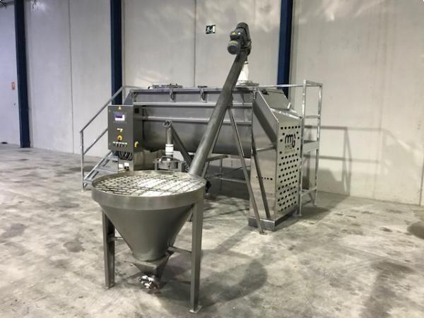 Linea de llenado, mezclado y dosificado de polvo en sacos de entre 5 a 50 kg acero inoxidable