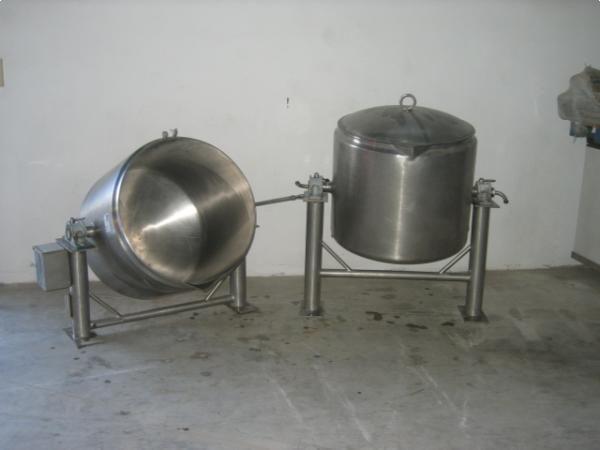 Peroles de doble fondo para agua en acero inoxidable 400 lts