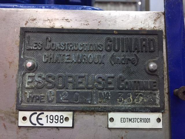 Centrifuga guinard c20 acero inoxidable 316