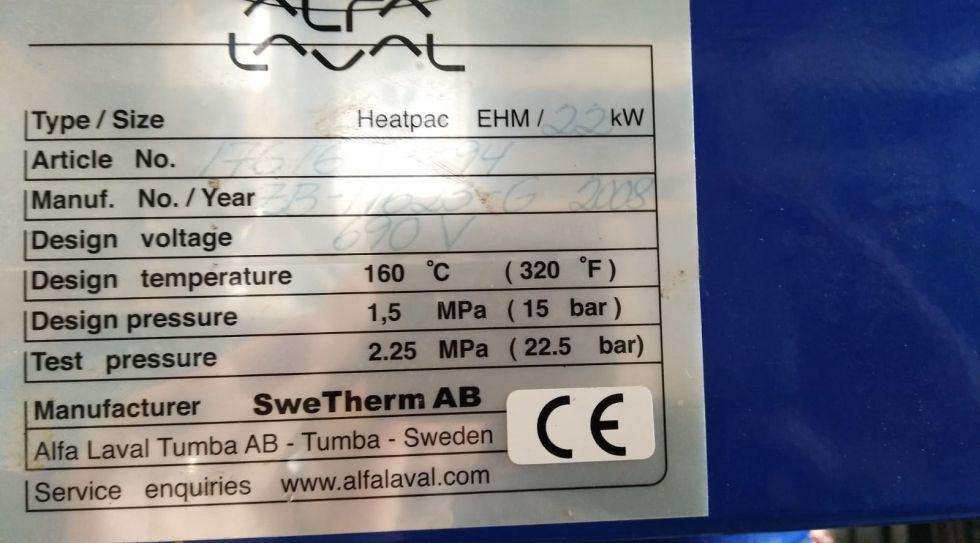 Centrifuga de platos alfa laval pu625e con calentador