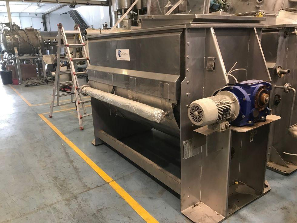 Mezcladora de bandas 1700 litros acero inoxidable
