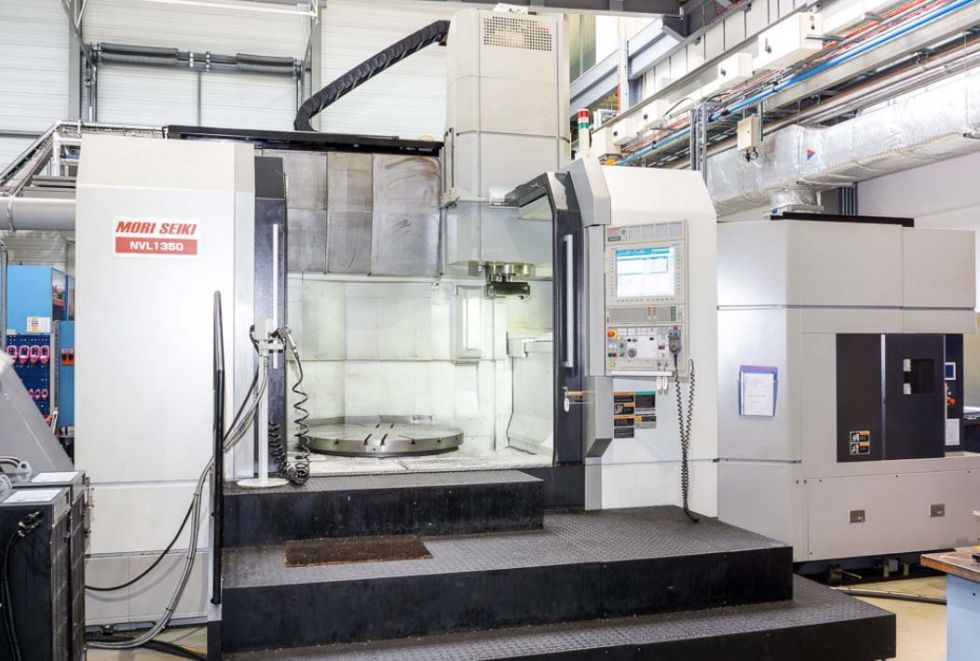 Mori Seiki NVL 1350 MC VTL Ø 2000 with C-Axis = Mach4metal 4188