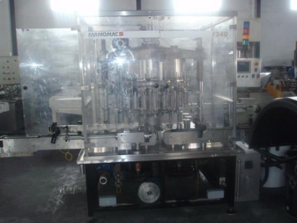 Llenadora de 18 pistónes rotativa FARMOMAC en acero inoxidable