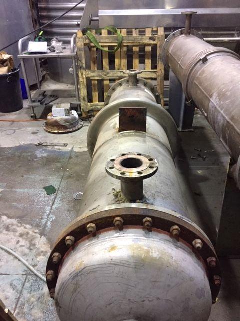 Intercambiador tubular bachiller 52 m2 acero inoxidable 316l de segunda mano