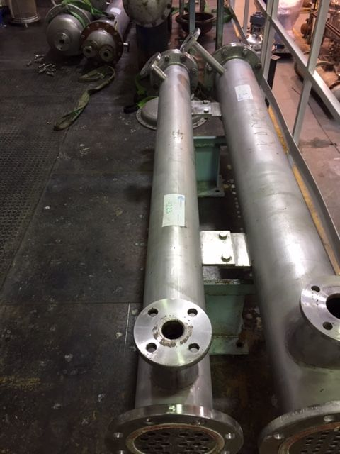 Intercambiador tubular emf-hofmann 2.51 m2 acero inoxidable 316l de segunda mano