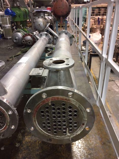 Intercambiador tubular emf-hofmann 4.98 m2 acero inoxidable 316l de segunda mano