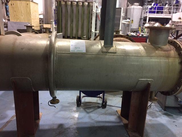 Intercambiador tubular bachiller 62.5 m2 acero inoxidable 316l de segunda mano