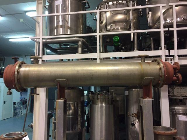 Intercambiador tubular bachiller 15 m2 acero inoxidable 316l de segunda mano