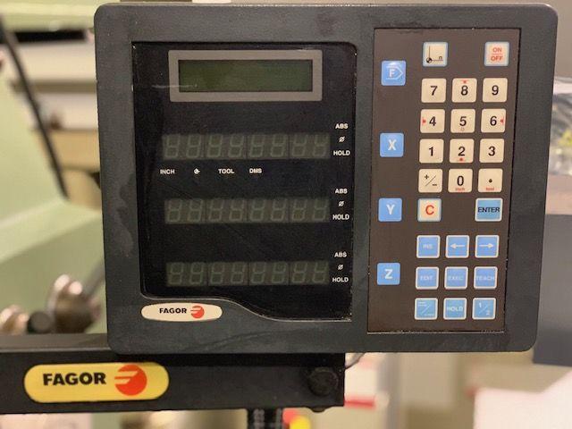 fresadora Fexac mesa 1300 visualizador digital fagor 3 ejes