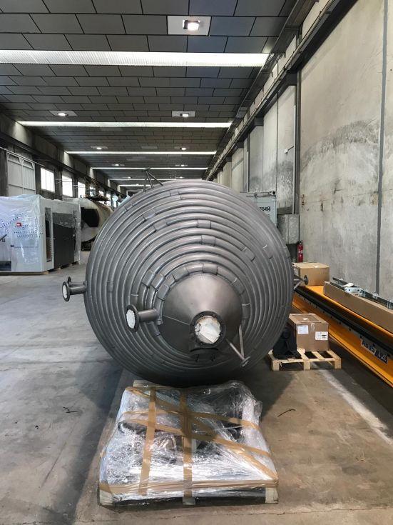 Reactor aguilar y salas 14.000 litros acero inoxidable 904l con agitacion y media caña