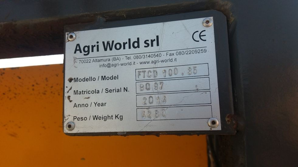 Destoconadora FTCD 100,35 Agri-World