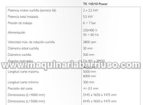 Tronzadora de doble cabezal TEKNA TK 145/10 Power